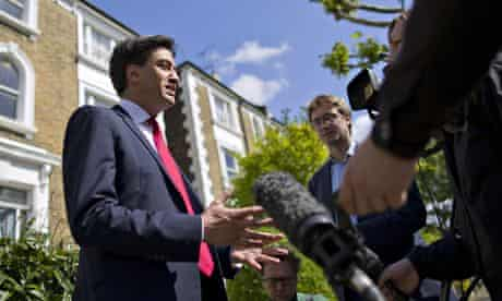 British Labour Party leader Ed Miliband