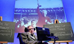 Stephen Hawking unveils two new formulae for World Cup success