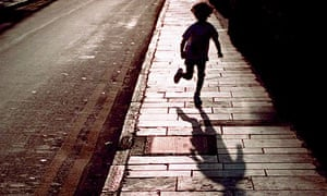 Child in shadow