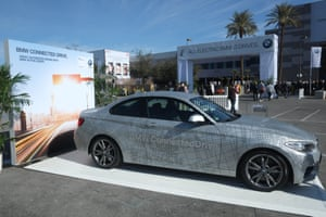 BMW's self asssisted car during the 2014 International CES at the Las Vegas Convention Center on January 8, 2014 in Las Vegas, Nevada.