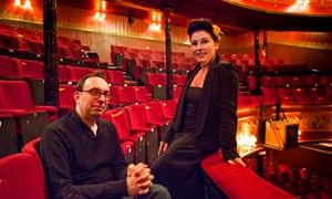 Jessie Wallace and Elliot Davis in the Theatre Royal Stratford East
