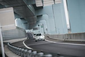 Nissan's Autonomous Drive LEAF Kuroiwa Shiga Kanagawa highway.