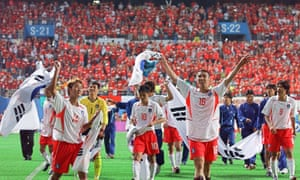 The South Koreans celebrate delivering the wish voiced by their supporters.