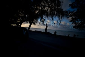 Last light on Kiribati.