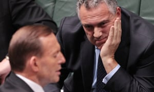 Hockey and Abbott brainstorm in question time.