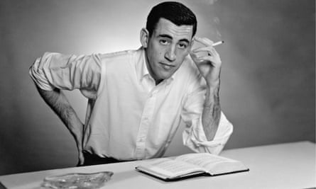 Author JD Salinger poses for a portrait as he reads from his novel The Catcher in the Rye in 1952.