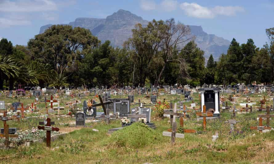 Tombs at a cemetery in Cape Town. The sandy, windswept Cape Flats is home to scores of rival street gangs who have carved up the gritty, poverty-ridden neighbourhoods into lucrative drug turfs. On average a life is lost to gang violence every five days.
