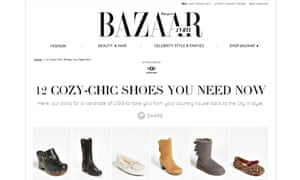 Native advertising on Bazaar.