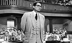 American actor Gregory Peck as Atticus Finch in a scene from  the 1962 film To Kill A Mockingbird.