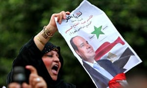 An Egyptian supporter of Abdel Fatah al-Sisi