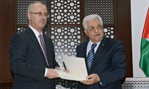Rami Hamdallah and Mahmoud Abbas
