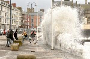 Aberystwyth storm