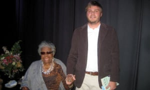 Jesse Regis with Maya Angelou