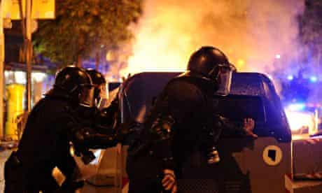 Unrest around the Can Vies centre in Barcelona