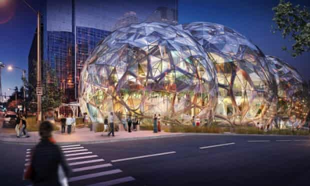 Amazon's new headquarters in South Lake Union, Seattle