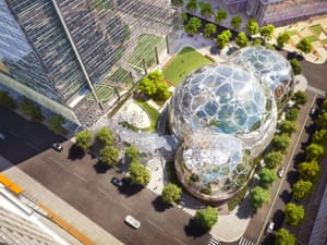 Amazon's new headquarters in South Lake Union, Seattle.