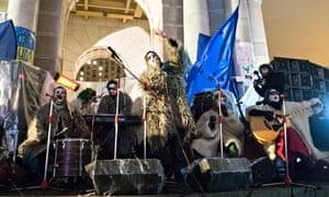 Dakh Daughters perform at Maidan square in Kiev.