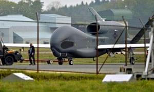 A Global Hawk reconnaissance drone