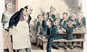 Please Sir, may I have some more? An illustration of the famous scene from Oliver Twist