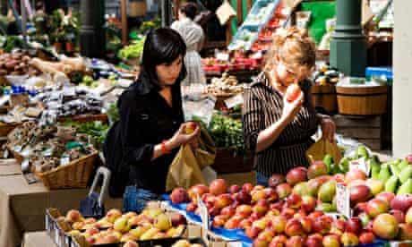 Shoppers at Borough Market London