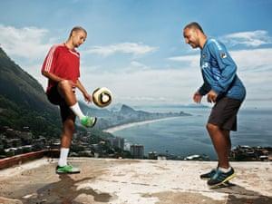 'Cypa' Paulo Cezar Bento, 46, PE instructor, and son Roberto Antonio Santana Dos Santos, 24, Vidigal favela, Rio de Janeiro