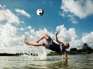 Rafael Barros da Silva, 13, pupil at Saber Viver football school, Recife