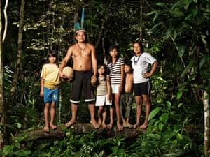 Awyató (Jaguar), 41, chief of the Sateré-Mawés indigenous group, Amazon.