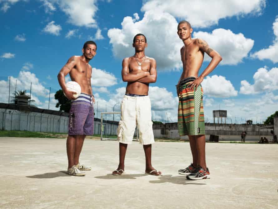 From left: Barbeiro, Tato and Galo Cego, inmates at Curado prison complex, Recife