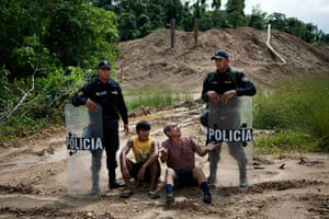 Illegal gold mining: Police stand guard