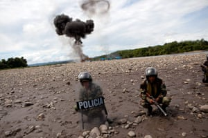 Illegal gold mining: Police secure the area