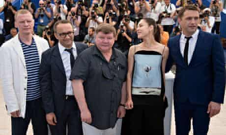 Leviathan: the director and cast at the Cannes photocall