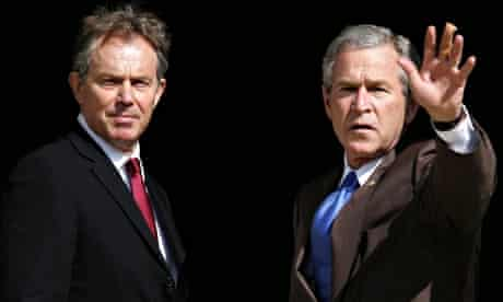 British prime minister, Tony Blair, with US president, George Bush, in 2005