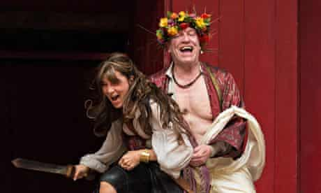 Eve Best and Clive Wood in Antony and Cleopatra
