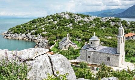 Beska Monastery on Lake Skadar.