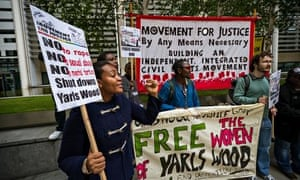 A protest to shut down Yarl's Wood Immigration Detention Centre