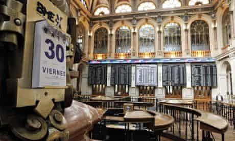 Spanish stock exchange in Madrid