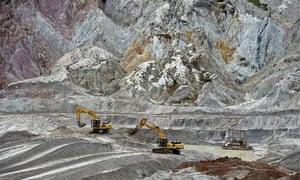 Tin mining in Bangka island, Indonesia