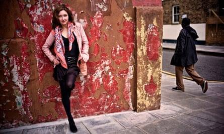 Slit's guitarist Viv Albertine, photographed on a London street, 2014