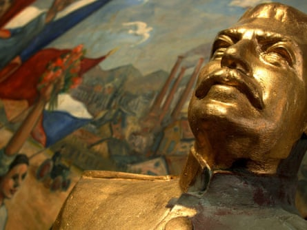 Statue of Stalin in the Museum of Communism in Prague