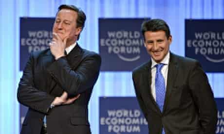 'Motivational codswallop': Sebastian Coe with David Cameron in 2012.
