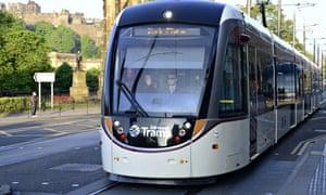 Edinburgh tram line launch