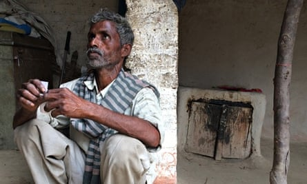 Sohan Lal, father of one of the raped girls, at  home in Uttar Pradesh.