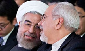 Hassan Rouhani and Mohammad Javad Zarif