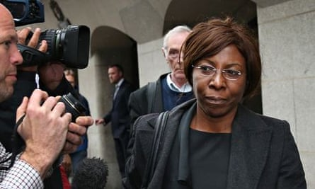 Constance Briscoe after being found guilty of lying to the police