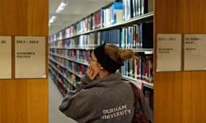 Economics section, Durham University's South Road Library.