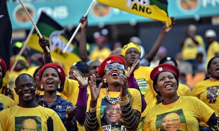 ANC supporters at rally
