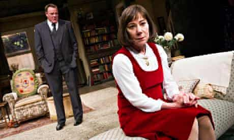 Zoë Wanamaker (Stevie) and Chris Larkin (Man) in Stevie by Hugh Whitemore at the Minerva Theatre