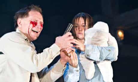 Gouging reaction … Danny Webb and Lydia Wilson in Sarah Kane's Blasted.