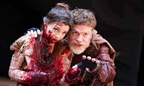 A fearful sight of blood and death … Flora Spencer-Longhurst and William Houston in Titus Andronicus