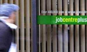 Man passing a Jobcentre Plus